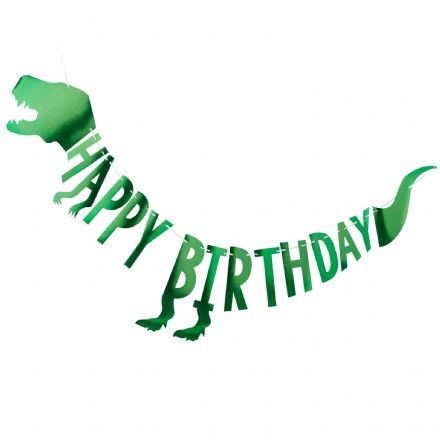 Green Dinosaur Birthday Bunting
